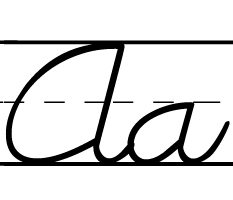 DNCursive font for D'Nealian worksheets