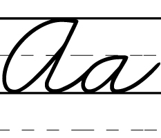 ZWriting font for Zaner-Bloser worksheets