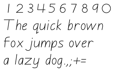 GDBasicItalic font for Getty-Dubay exercises