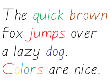 Letters solid, with arrows, dotted, can be printed in color, which adds to the educative potential, with color-coded exercises